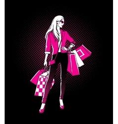Comic style girl vector image