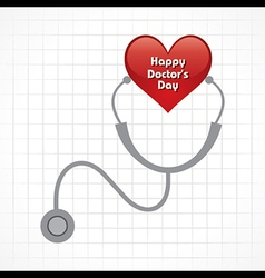 Creative National Doctors Day Greeting vector image