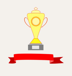 Cup and ribbon reward vector