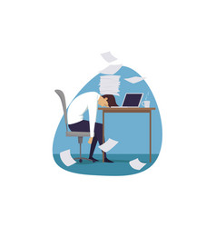 Deadline mental stress time management business vector