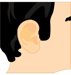 Ear of the person vector