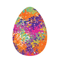 Easter egg isolated traditional decoration food vector