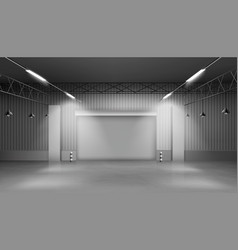 empty storehouse warehouse interior factory vector image