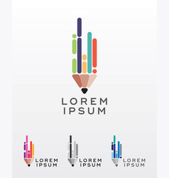flat style pencil icon or logo design element vector image