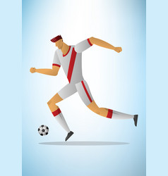football player 15 vector image vector image