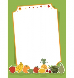 fruit sign vector image