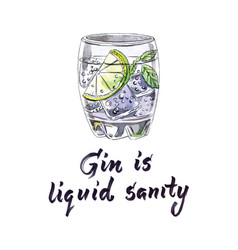 gin and tonic therapy vector image