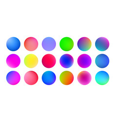 Gradient color circles abstract watercolor paint vector