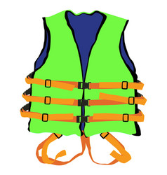 green life jacket vector image