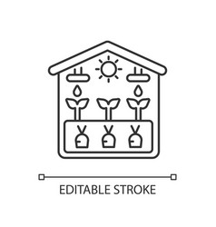 Greenhouse linear icon vector
