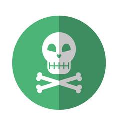Halloween skeleton bones character icon vector