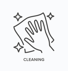 Hand cleaning icon outline of vector