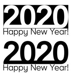 happy new year 2020 text lettering brochure vector image