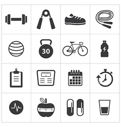 Healthy and fitness icon vector