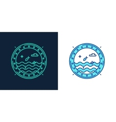 icon of a porthole linear style symbol vector image