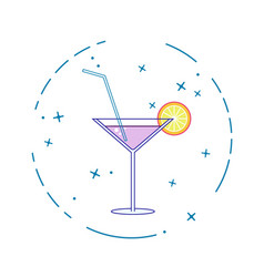 Image of a cocktail on a white background in a vector