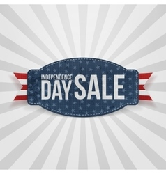 Independence Day Sale greeting Badge vector image