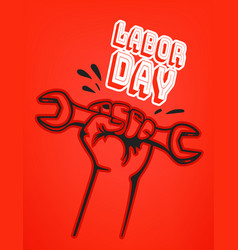 international labor day concept vector image