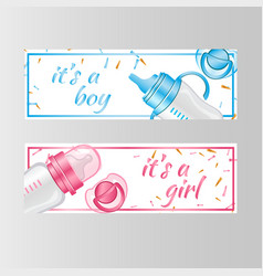 It s a boy and it s a girl two banner vector