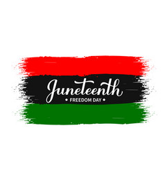juneteenth calligraphy hand lettering on brush vector image