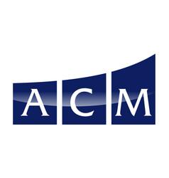 Letter a c m modern vector