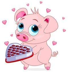 Love piglet vector image