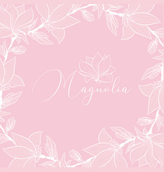 magnolia wedding flowers frame backdrop vector image