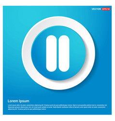media player control abstract blue web sticker vector image