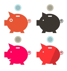 Money pig banks set vector