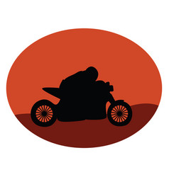 motorcycle on white background vector image