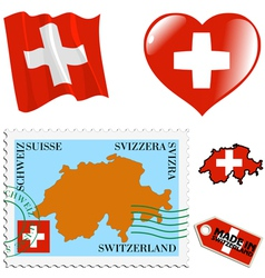national colours of Switzerland vector image