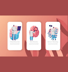 Neurological examination concept mobile app page vector