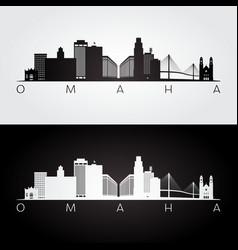 Omaha usa skyline and landmarks silhouette vector
