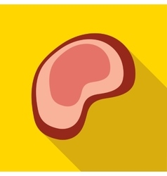 Piece of meat icon flat style vector image
