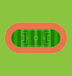 Running field and soccer field in green grass vector