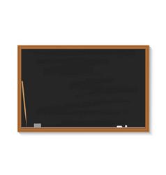 school blackboard chalkboard with chalk pointer vector image