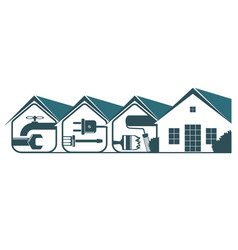 service home design vector image