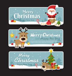 Set of christmas banner vector