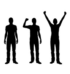 silhouettes of winners and losers vector image