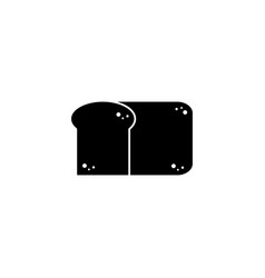slice bread fast food line style icon vector image
