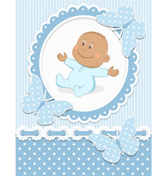 Smiling African baby boy vector image