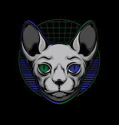 Sphynx cat logo vector