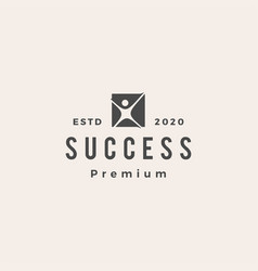 success people human hipster vintage logo icon vector image