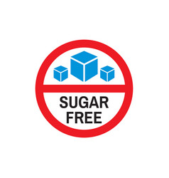 sugar free product - icon on white background vector image