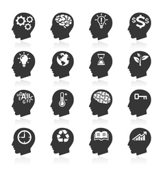Thinking Head Icons vector