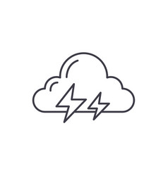 thunderstorm line icon concept thunderstorm vector image