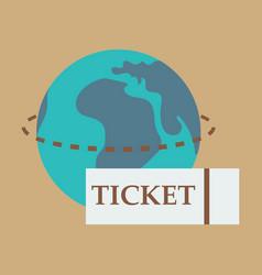 Ticket around the globe vector