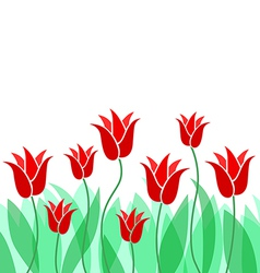 tulip leaves background vector image