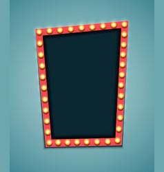 vintage 3d light retro frame vector image