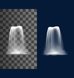 waterfall cascade realistic water fall stream vector image